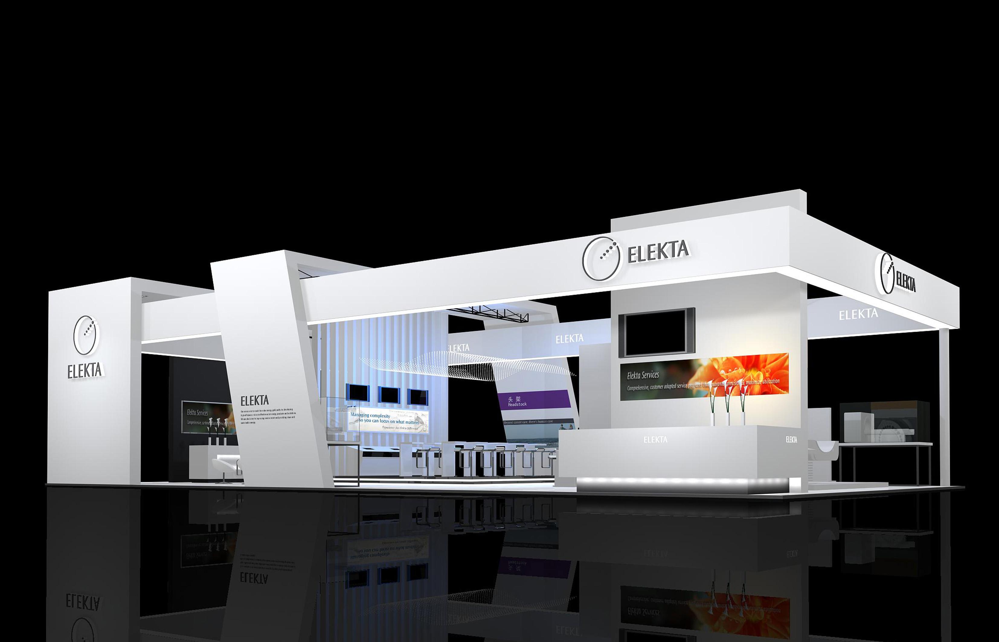现代科技感展位设计 展示设计