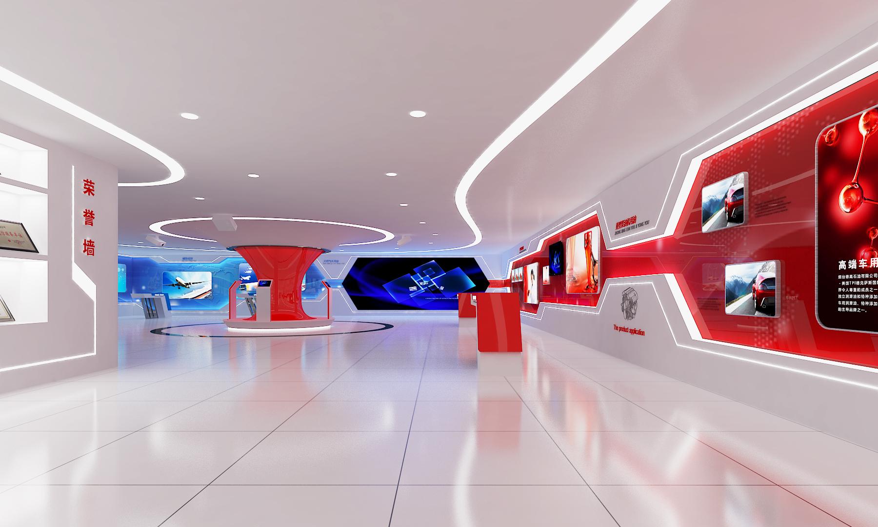 德高石油企业展厅设计装修