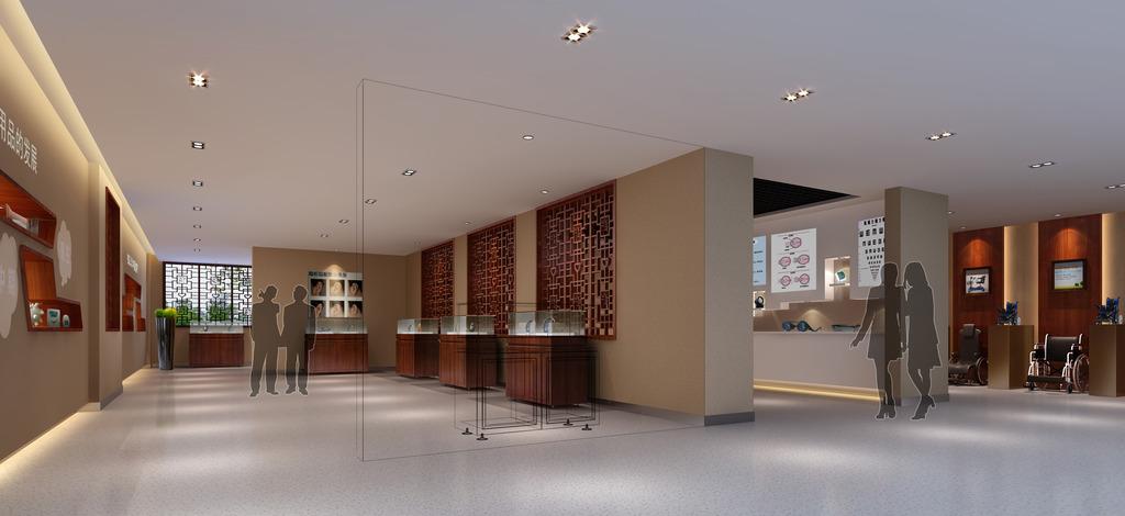 企业形象展示厅设计效果图